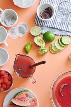 Watermelon Basil Lime Iced Tea