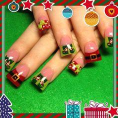 Santas workshop - Nail Art Gallery by nailsmag.com #nailart