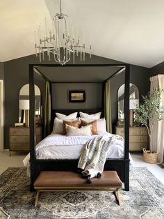 Master Bedroom Interior, Dream Bedroom, Home Bedroom, Bedroom Ideas, Dark Master Bedroom, Budget Bedroom, Master Bedroom Makeover, Dark Bedrooms, Bedroom Decor Dark