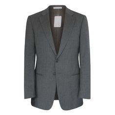 ARMANI COLLEZIONI $1,495 gray wool sportcoat Giorgio blazer jacket 38/48 R NEW #ArmaniCollezioni #TwoButton