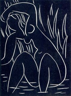 Henri Matisse ~ The Afternoon, 1941-42 (linocut)