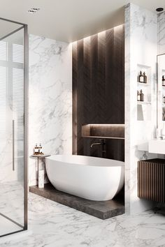 Modern Luxury Bathroom, Bathroom Design Luxury, Modern Bathroom Design, Interior Design Gallery, Modern Interior, Bathroom Design Inspiration, Apartment Projects, Toilet Design, Luxurious Bedrooms