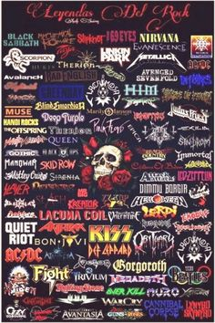 44 ideas music rock wallpaper heavy metal music wallpaper nora di leo on noradileo rock rock music rock and roll aesthetic vintage text baby doll mtv Heavy Metal Shirts, Heavy Metal Rock, Heavy Metal Bands, Rock And Roll, Pop Rock, Rock Band Posters, Rock Poster, Rockband Logos, Metal Band Logos
