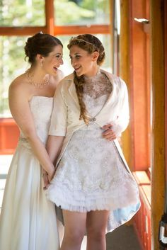 Two brides, two styles, gorgeous together!!