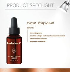 An intensive anti-ageing treatment serum that assists with lifting and tightening sagging, wrinkled skin.