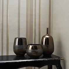 Hoppen Stripe Taupe / Gold