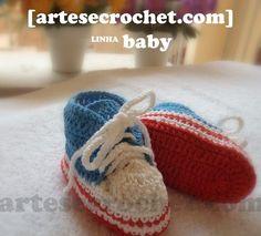 Sapatinho de crochet - All Star