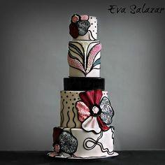 Beautiful Wedding Cakes, Gorgeous Cakes, Pretty Cakes, Amazing Cakes, Unique Cakes, Elegant Cakes, Creative Cakes, Fondant Cakes, Cupcake Cakes