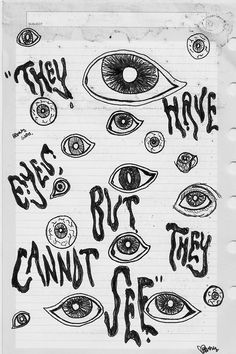 they have eyes but they cannot see