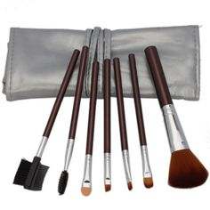 Professional 7 Pcs Makeup Make up Cosmetic Brushes Set Kit Eyeshadow Eyelash Eyebrow Lip Powder Blush Face Brush with Silver Bag Case Pouch by Crazy Cart. $1.63. Features: 1. The makeup brush set is easy to carry and use 2. With superior-quality, the makeup brushes in the set will not irritate your skin 3. Durable unique packaging can well protect your makeup brushes 4. It is an important beauty essential for you 5. Handle made of plastic and aluminum 6. It is...