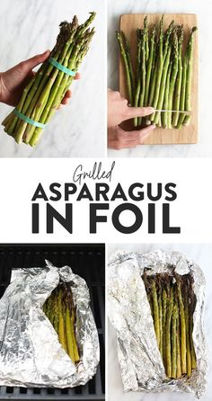 Jump into asparagus season with the easiest and yummiest way to eat it. Make Grilled Asparagus in foil for a 20-minute side perfect for all types of eaters! #grill #healthy #asparagus #grilledasparagus Asparagus On The Bbq, Grill Asparagus In Foil, Ways To Cook Asparagus, Best Asparagus Recipe, Grilled Asparagus Recipes, Asparagus And Mushrooms, Baked Asparagus, Grilled Vegetables, Tasty