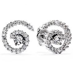 Hearts On Fire Mystical Prong Set Earrings