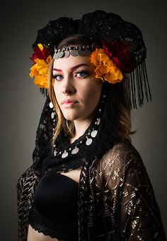The Oracle  gothic theatrical headdress by OculusDesignbyMandyW