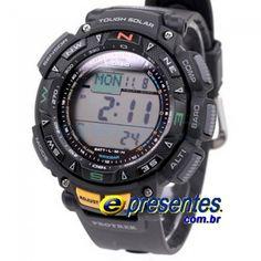 bbfbd1512c1 PRG-240-1DR Relogio Casio Protrek Bussola Altimetro Barometro Relógio Casio