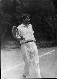 Dmitri Shostakovich playing tennis.