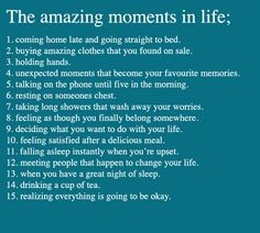 The amazing moments of life... yup