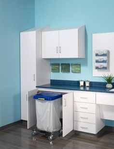 Storage cabinet / medical office / wall-mounted - Folio - Nurture