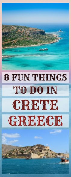 Greece is such a lovely country, that once you visit it, you fall in love with it forever! Crete is no exception. This amazing, rich in history island is a fantastic combination of food, culture an… Europe Travel Tips, Places To Travel, Places To Visit, Travel Destinations, Greece Vacation, Greece Travel, European Destination, European Travel, Stuff To Do