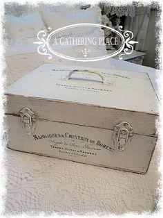 Circa 1940 French FARMHOUSE Keepsake BOX by AGatheringPlace, $64.00