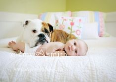"""Both """"babies"""" ~ one picture ~ priceless. (Photo by Amy Smith Photography)"""