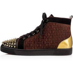 Christian Louboutin Lou Spikes Men's Flat ($995) ❤ liked on Polyvore featuring mens