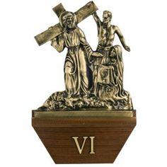 Vía Crucis 24x42 latón fundido sobre base- 15 esta