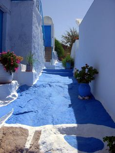 The Streets in Paros, Greece