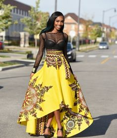 Rahyma Java HiLo Skirt #Africanfashon #Skirt