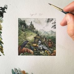 "10.2k Likes, 53 Comments -  Watercolor blog (@watercolor.blog) on Instagram: "" Watercolorist: @rivuletpaper #waterblog #акварель #aquarelle #drawing #art #artist #artwork…"""