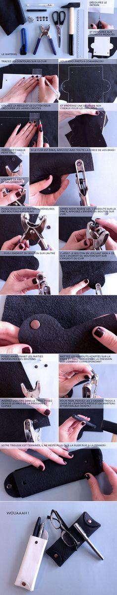 Fabriquez votre trousse ou étui en cuir pour la rentrée
