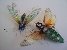 Computer Bugs, recycled art from computer parts by Julie Alice Chappell  Check her out here : https://www.facebook.com/pages/Julie-Alice-Chappell-Artist/146001165481339?fref=ts  Article found here > http://www.permaculture.co.uk/articles/recycling-create-art-computer-component-bugs