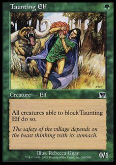 Taunting Elf - Creature - Elf - Forest - Green - Onslaught - Magic The Gathering Trading Card