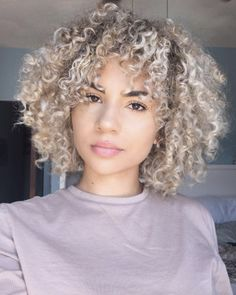 Ash blonde curls by Mikayla Ewing