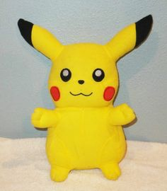 """12"""" PIKACHU Pokemon Plush Stuffed Doll NINTENDO Toy Factory 2008"""