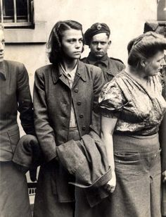 Bergen Belsen, Germany, nearby German villagers were forced to see what was going on in the camp and they didn't like what they were forced to see