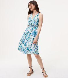 Primary Image of Petite Floral Tie Waist Dress