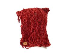 Womens Red Pixie Hat Chunky Knit Pixie Hat Elf by Maxiesknitwear, $27.50