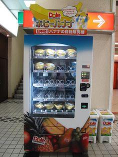 Een complete automaat voor bananen? Ja, in Japan bestaat alles!
