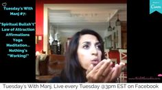 """Tuesday's With Manj """"Spiritual Bullsh*t,"""" The Law of Attraction - Wh. Cookie Videos, Law Of Attraction Affirmations, Spiritual Wellness, Our Body, Yoga Meditation, Talk To Me, Self Love, Tuesday, Spirituality"""