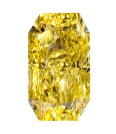 0.63 Carat Fancy Vivid Yellow Radiant Diamond