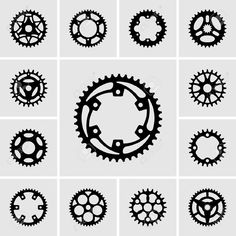 Gear Pictogram Cliparts, Stock Vector And Royalty Free Gear Pictogram Illustrations Cycling Tattoo, Bicycle Tattoo, Cycling Art, Gear Tattoo, Bike Tattoos, Tatoos, Bike Icon, Bike Drawing, Bike Logo