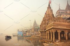 Early morning at Ganges river  by Radiokafka on @creativemarket