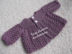 Preemie-Newborn Lace Cardigan.