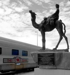 The Ghan train and camel statue at Alice Springs station. One of the stops of my Ghan trip on the Big Travel Adventure through Australia and Asia. Follow my travels! Http://www.tipsfortravellers.com/bigtrip2014