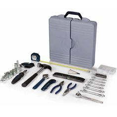 The Professional Tool Kit is a deluxe tool set that has everything you need for jobs around the home or the garage. It includes a 22-piece ratchet set (including a spark plug socket and extension bar), six assorted wrenches, one claw hammer, one bit driver, 10-piece insert bit set, four-piece set of precision screwdrivers, one pair or blunt nose pliers, one pair of needle nose pliers, one utility knife with retractable, break-off blades, one meas * Check this awesome product by going to the…