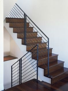 66 Awesome Photos Of Indoor Stair Railing Kits Steel Railing, Metal Handrails For Stairs, Indoor Stair Railing, Stair Railing Kits, Modern Stair Railing, Stair Railing Design, Stair Handrail, Staircase Railings, Modern Stairs