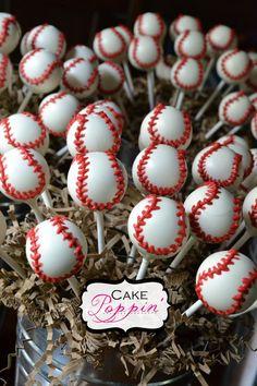 pinterest baseball ideas | Baseball Cake Pops Pop Ideas