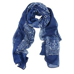 Kobwa(TM) Women Girl Beige Porcelain Pattern Voile Long Scarves,Dark Blue With Kobwa's Keyring Kobwa http://www.amazon.com/dp/B00GOQ3R04/ref=cm_sw_r_pi_dp_Gv-wvb0XC4E76