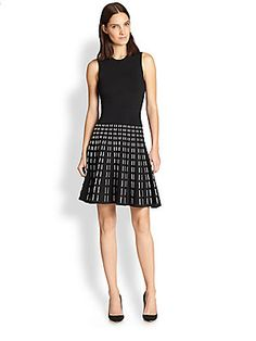 A.L.C. Houston Patterned-Skirt Fit-&-Flare Dress