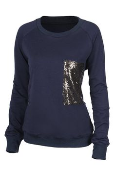 Cupshe Shimmer Me Sequined Sweatshirt